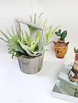 1 Bunch Simulation Succulents Antlers Leaf Artificial Plant Wall Decoration