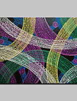 Hand Painted Modern Abstract Line Oil Painting On Canvas Wall Art Picture For Home Decoration With Stretched Framed