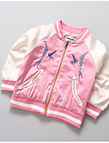 Girl's Casual/Daily Embroidered Jacket & CoatPolyester Spring / Fall Blue / Pink