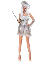 Cosplay Costumes / Party Costume Zombie Festival/Holiday Halloween Costumes Gray Solid Dress / Hats / More Accessories Halloween Female