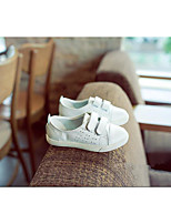 Jungen-Flache Schuhe-Outddor-Leder-Flacher Absatz-Mary Jane-Schwarz / Weiß