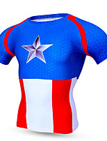 Sports Cycling Jersey Men's Short Sleeve Bike Breathable / Quick Dry / Compression / Comfortable Tops Polyester / Terylene Classic Summer