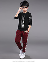 Boy's Casual/Daily Solid PantsCotton Spring / Fall Black / Red