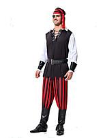 Costumes Plus de costumes Halloween Rouge / Noir Rayé Térylène Haut / Pantalon / Plus d'accessoires