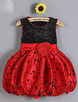 Girl's Casual/Daily Polka Dot DressCotton Summer Pink / Red / White