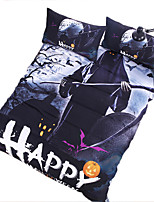 BeddingOutlet Halloween Bedding Set Black Cool Kids Duvet Cover With Pillowcases No Fading Multi Sizes Bedclothes