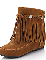 Women's Shoes Flat Heel Round Toe Tassel Ankle Bootie with Rivets More Color Available