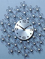 Modern/Contemporary / Casual Family Wall ClockRound Metal 44*44*4 Indoor/Outdoor / Indoor / Outdoor Clock