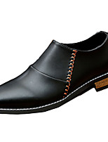 Men's Oxfords Spring / Fall Comfort PU Casual Flat Heel Slip-on Black / Red / Beige Others