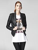 Heart Soul Women's Shirt Collar Long Sleeve Jackets Black-3197JW