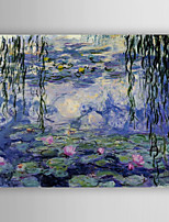 Oil Painting Waterlily of  Monet Hand Painted Canvas Painting with Stretched Framed Ready to Hang
