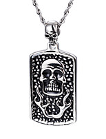 2016 New Punk 316L Stainless Steel Skull Pendant Fashion Rock Collar Long Chain Necklace For Men Boyfriend Gift