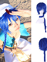 Costume Wig Japanese Anime Harajuku Style Extra Long Length Blue Color Cheap Synthetic Cosplay Hairstyle