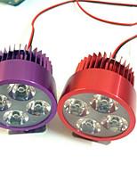 phare moto externe phare de voiture de la batterie a conduit quatre lampe patch imperméable à l'eau perle