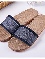 Men's Slippers & Flip-Flops Summer Slingback Linen Casual Flat Heel Others Blue / Brown / Coffee / Navy Others