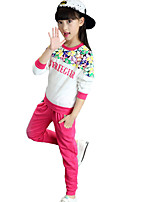Girl's Casual/Daily Floral Clothing SetCotton Fall Green / Red / White