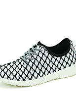 Femme-Décontracté-Rouge / Vert clair / Noir et blanc-Talon Plat-Confort-Sneakers-Tulle