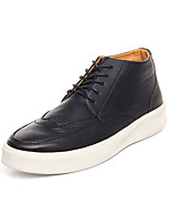 Men's Sneakers Spring / Fall Comfort PU Casual Flat Heel  Black / Brown / Green Sneaker