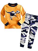 Boy's Casual/Daily Print Clothing SetCotton Winter / Fall Yellow
