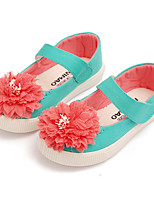 Girl's Flats Spring / Fall Comfort / Ballerina Fabric Outdoor / Casual Flat Heel Magic Tape / Flower  Walking