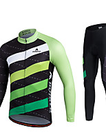 Miloto® Cycling Jersey with Tights Men's / Unisex Long Sleeve Bike Breathable / Quick Dry / Moisture Permeability / 3D Pad / Sweat-wicking