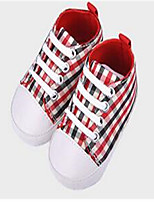 Girl's Sneakers Fall Comfort Canvas Casual Flat Heel Lace-up Red Others