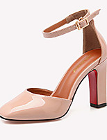 Women's Heels Fall Comfort Patent Leather Casual Chunky Heel Buckle Black / Pink / Gray Others
