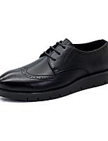 Men's Oxfords Spring / Fall Comfort PU Casual Flat Heel  Black Sneaker