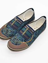 Women's Loafers & Slip-Ons Fall Comfort Canvas Casual Flat Heel Others Green Red Others