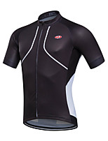 Sports Cycling Jersey Men's Short Sleeve Bike Breathable / Quick Dry / Sweat-wicking Jersey Coolmax Classic Spring / Summer / Fall/Autumn