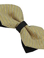 Для мужчин Винтаж / Для вечеринки / Для офиса / На каждый день Бабочка,Полиэстер Жаккард,Желтый Все сезоны
