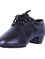 Men's Oxfords Spring / Fall Closed Toe Leather Outdoor / Casual Chunky Heel Lace-up Black / Red Others