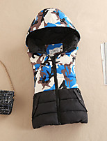Women's Camouflage Hin Thin Slim Waistcoat Thick All Match Fashion Coat Street chic Hooded Sleeveless