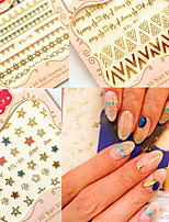 Bohemia style 3D Manicure Nail Applique Decal Sticker Gold