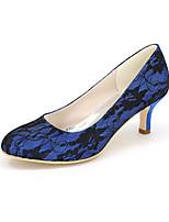 Homme-Mariage / Soirée & Evénement-Noir / Bleu / Rose / Ivoire / Blanc-Talon Aiguille-Talons / Bout Arrondi-Chaussures à Talons-Soie