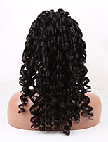 20-26 Inch Natural Black Color Loose Wave Brazilian Virgin Human Hair Lace Front Wig With Baby Hair