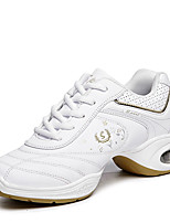 Non Customizable Women's Dance Shoes Leatherette Dance Sneakers / Modern Sneakers Flat Heel Professional