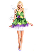 Costumes Princess series Costumes Halloween Green Patchwork Terylene Dress / More Accessories