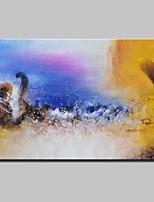 Ручная роспись Абстракция / Абстрактные пейзажи Картины маслом,Modern 1 панель Холст Hang-роспись маслом For Украшение дома