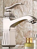 Antique / Traditional / Modern Centerset Waterfall / Widespread / Pre Rinse with  Ceramic Valve Single Handle Two Holes
