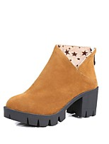 Women's Boots Fall / Winter Combat Boots PU Outdoor / Casual Chunky Heel Others Black / Yellow / Gray Others