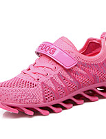 Girl's Spring / Fall Comfort Tulle / PU Athletic Flat Heel Lace-up / Magic Tape Pink Sneaker