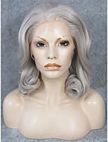 imstyle 16 естественный вид смешивания серый волны синтетический парик шнурка шнурка фронта волос
