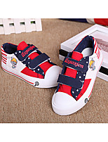 Boy's Flats Spring / Summer / Fall Flats Canvas Outdoor Flat Heel Others Black / Blue / Red Walking