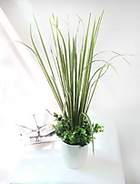 High Quality 1 Branch Silk Green Plants Artificial Flowers For Decor Artificial 1pc/set