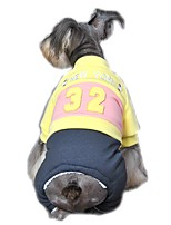 Sport Style Two-tone No.32 Pattern Jumpsuit for Pets Dogs (Assorted Sizes and Colours)