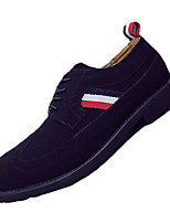 Men's Oxfords Fall / Winter Comfort / Pointed Toe PU Casual Flat Heel Lace-up Black / Brown Others