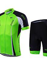 Sport Fahhrad/Radsport Kleidungs-Sets/Anzüge Herrn / Unisex Kurze ÄrmelAtmungsaktiv / Rasche Trocknung / Reißverschluß vorne / tragbar /