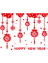 Wall Stickers Wall Decals Style Merry Christmas Happy New Year PVC Wall Stickers