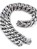 Kalen 316L Stainless Steel 61cm Long Cuban Link Chain Heavy Chunky Necklace Men's Costume Accessories Jewelry